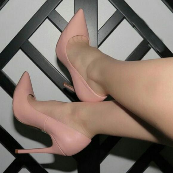 light pink stilettos